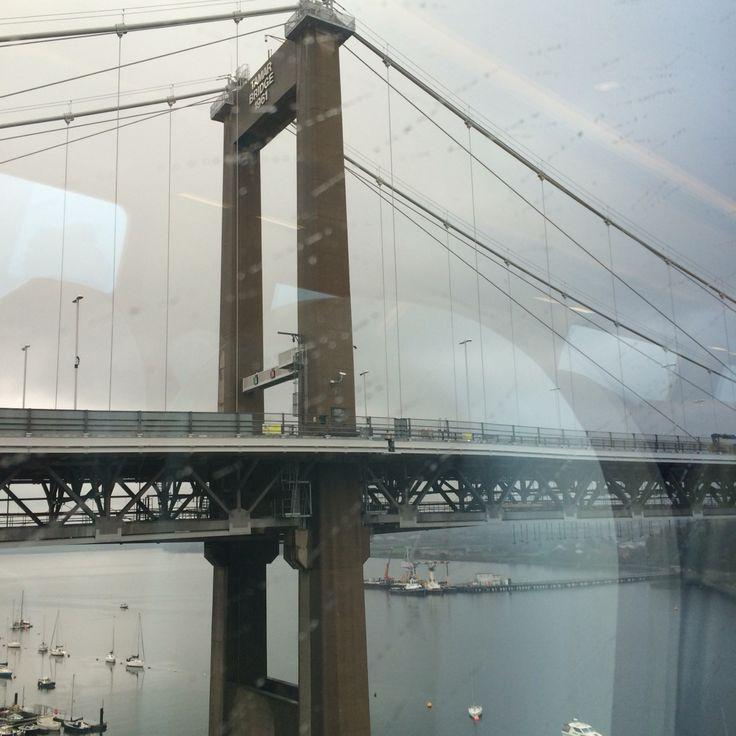 Tamar bridge on the train