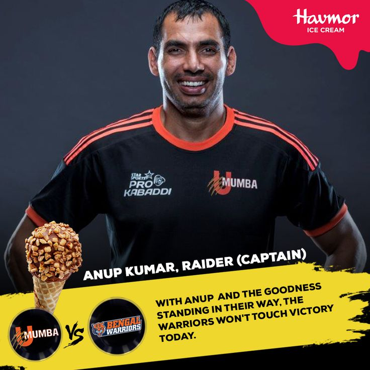 We're excited to see Anup Kumar, U Mumba's #raider, lead his #team to #victory in today's match against the Bengal Warriors.