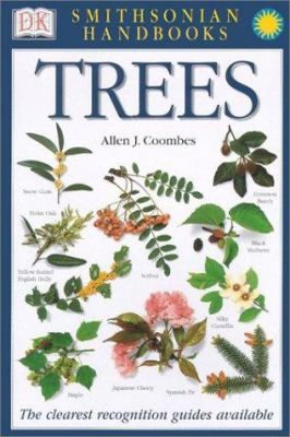 """""""Provides descriptions and annotated photographs of various species of trees, including conifers, broadleaves, and palms, and includes height, shape, leaf persistence, and leaf type indicators."""""""