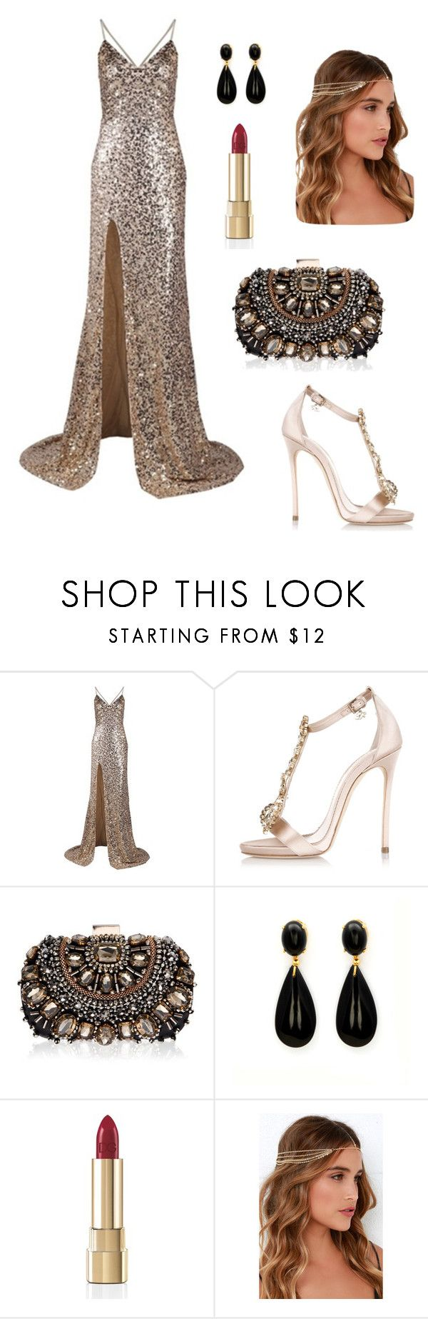 """""""Great Gatsby Look"""" by anggeyy on Polyvore featuring Dsquared2, Lipsy, Dolce&Gabbana and Lulu*s"""