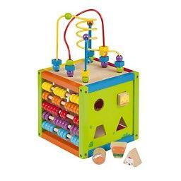 Jouéco - Houten Activiteiten kubus #houtenspeelgoed #speelgoed #houtenactiviteitenkubus #educatiefspeelgoed #jueco #babyspeelgoed #peuterspeelgoed