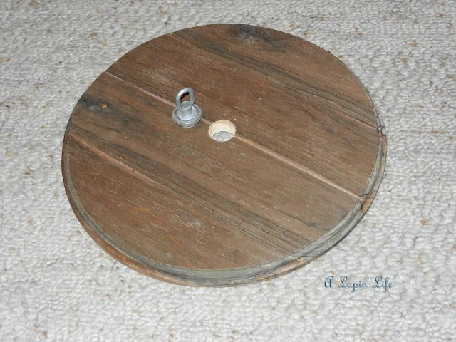 Barn Wood Ceiling MedallionYou Can Make One Too By A