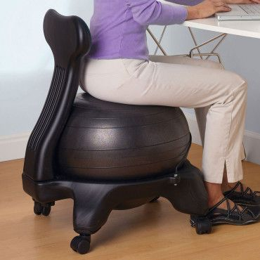 Gaiam Balance Ball Desk Chair – Remove Ball for Exercises