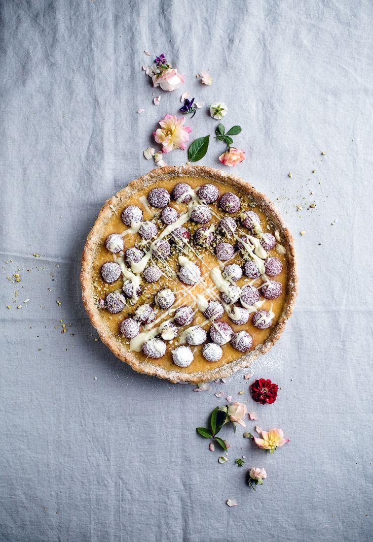 Pistachio Lemon Raspberry Tart (Dairy Free) (Artful Desperado)