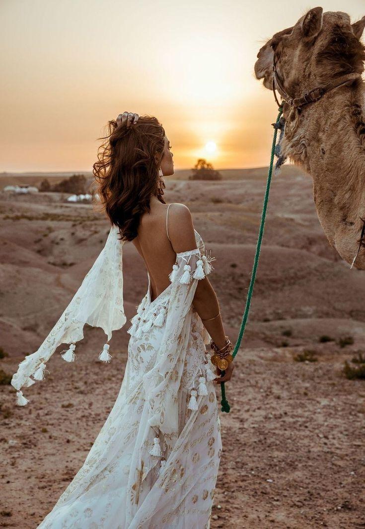 39+ Adorable Bohemian Wedding Dress To Makes You Look Stunning