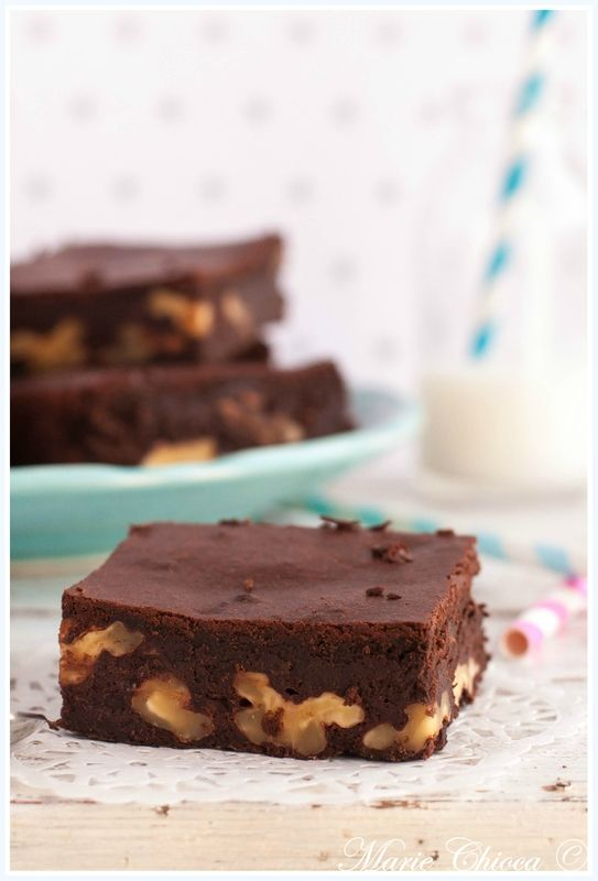 * Brownies pralinés ultra légers (sans beurre et sans farine)