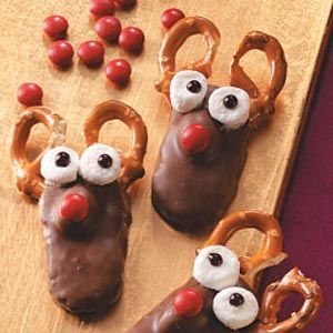 Reindeer Cookies (made with miniature Almond Joy)