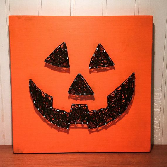 MADE TO ORDER  Pumpkin String Art by StringsbySamantha on Etsy