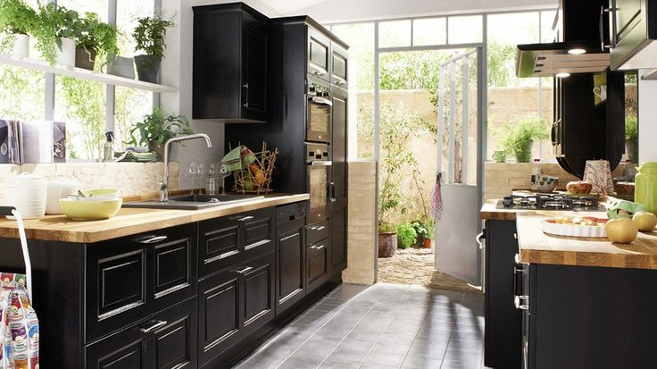 le noir mat dans la cuisine kitchens and room. Black Bedroom Furniture Sets. Home Design Ideas