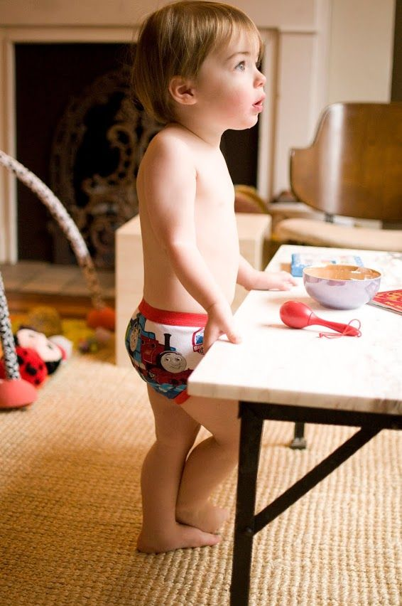 Potty training tip: Buy your son real underwear that has their favorite cartoon character or superhero on them. In fact let them choose which pairs they want.  For more potty training tips go to http://www.projectpottytraining.com