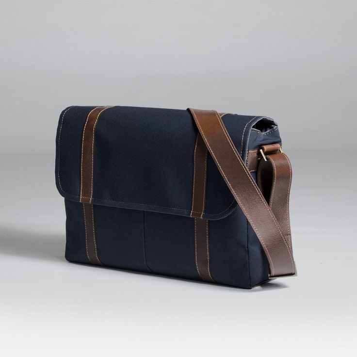 The Forge Messenger in navy by Mother Co. Made in Canada  - $149