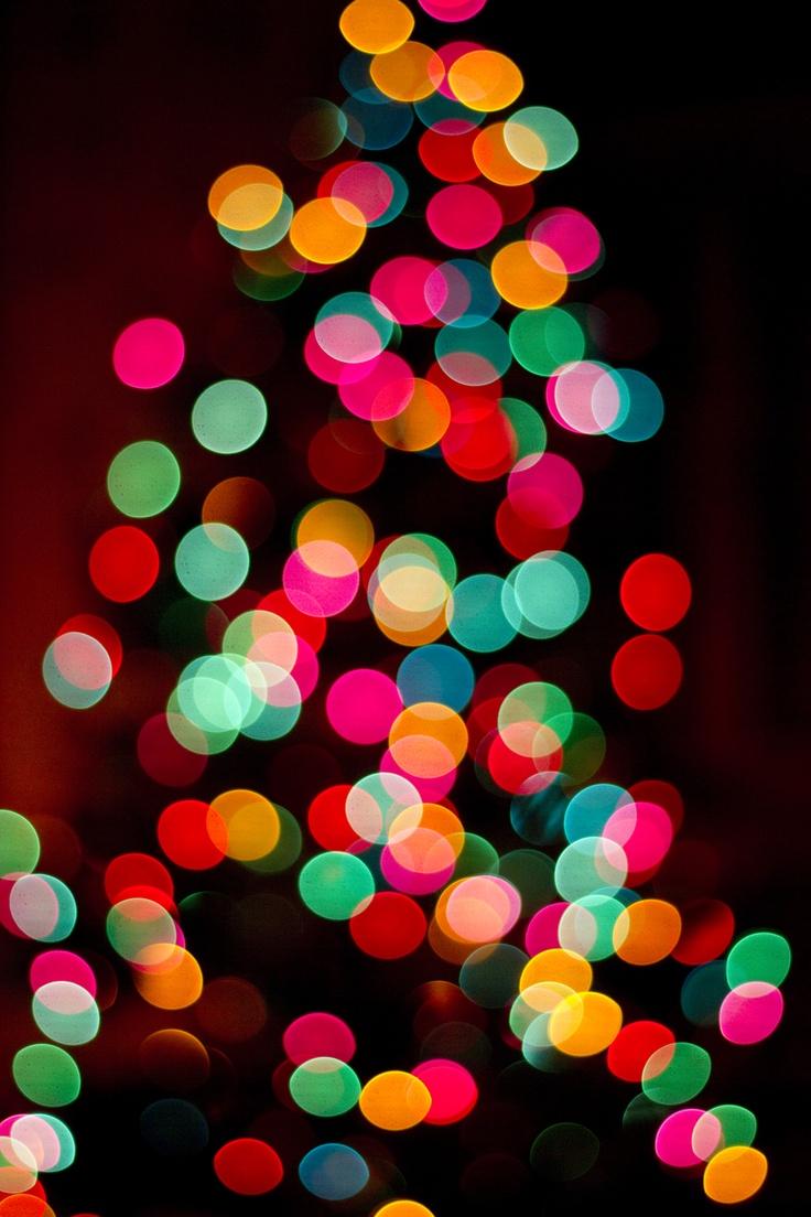 Christmas Tree Bokeh   light   Pinterest