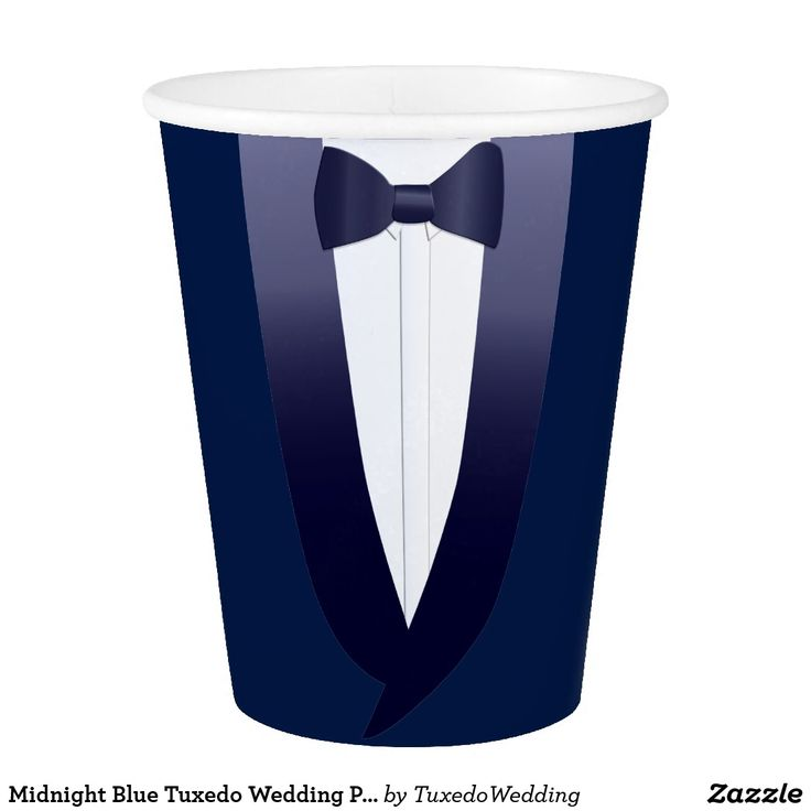 Midnight Blue Tuxedo Wedding Ping Pong Paper Cup