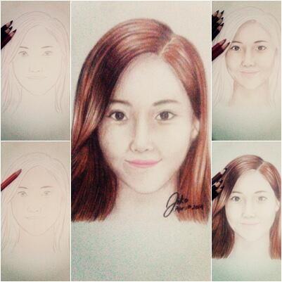The way I sketch Jessica