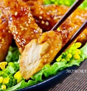 鶏むね肉(鶏胸肉)で簡単 運動会お弁当♪揚げない甘辛ウイング風照り焼きチキン♪節約にも