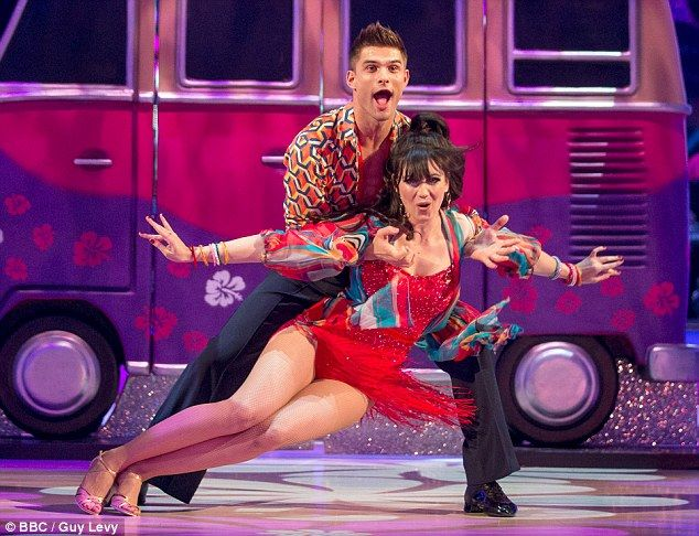 Dance stars: Aljaz Skorjanec with Daisy Lowe. Tess Daly, and judges Bruno Tonioli and Craig Revel Horwood had signed up to the four-day event in June