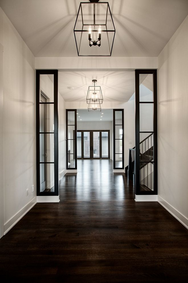 Semi Gloss Dark Hardwood Flooring Classic Semi Gloss Dark Hardwood Flooring White Oak With Custom Dark Stain C Custom Home Designs Home Remodeling Custom Homes