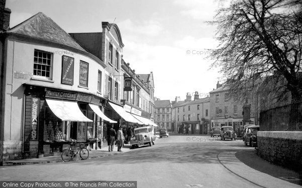 Axminster, The Square c.1940, from Francis Frith