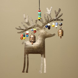 @Overstock - Decorate your home with this festive copper and iron bell chime. Featuring a whimsical reindeer with beads, this ornament is handcrafted by artisans in India.http://www.overstock.com/Worldstock-Fair-Trade/Iron-and-Copper-Reindeer-Bell-Chime-India/5033733/product.html?CID=214117 $26.99