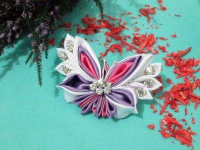Amazing Kanzashi Butterfly - Handmade Brooch