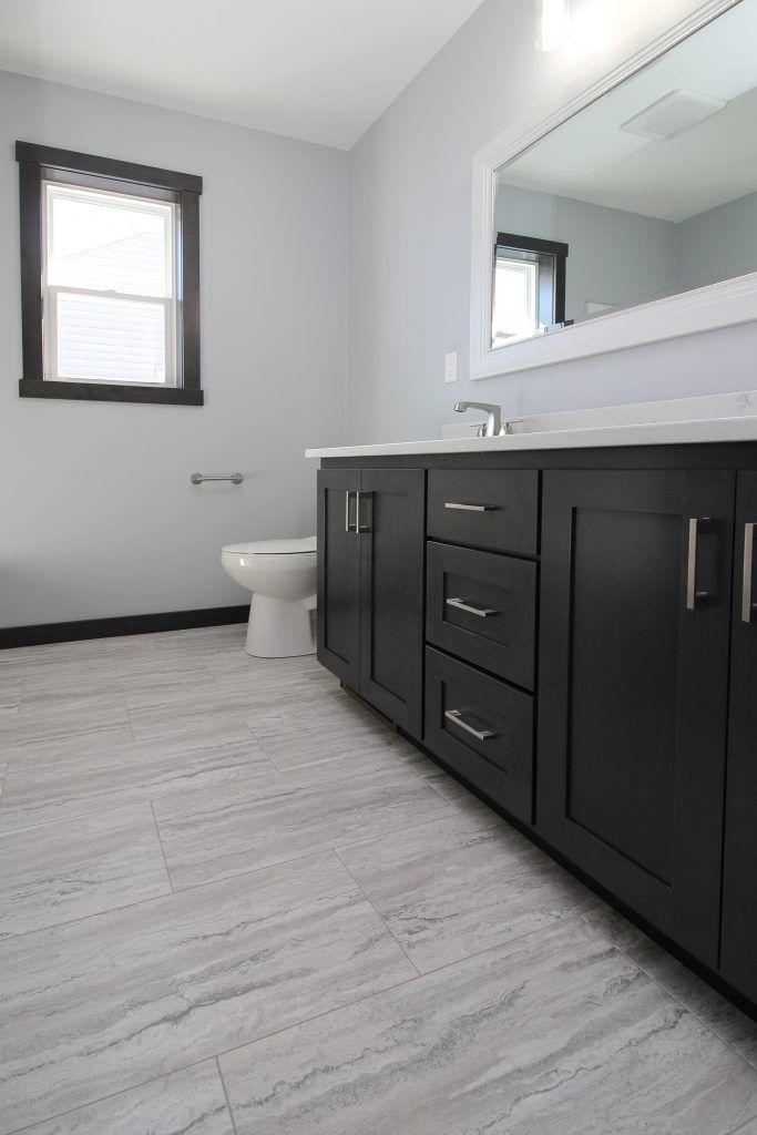 luxury vinyl tile bathroom floor