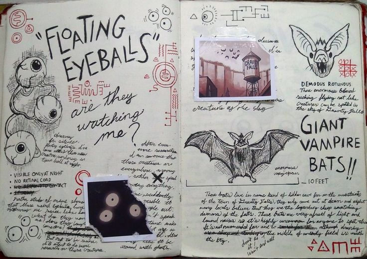 Gravity Falls Journal 3 Replica - Eye Balls 'n Bat by leoflynn.deviantart.com on @deviantART
