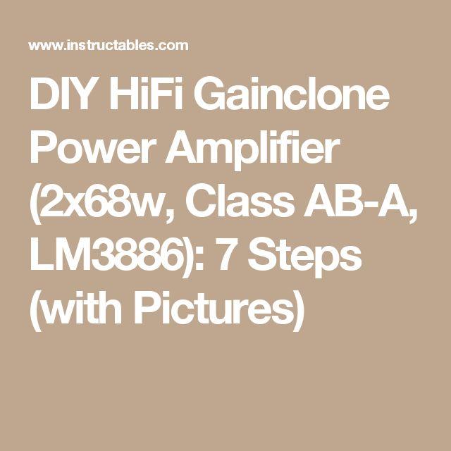 Nice DIY HiFi Gainclone Power Amplifier xw Class AB A LM