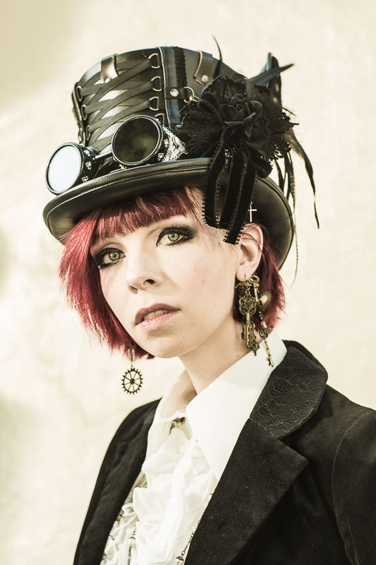 Steampunk and Gothic inspired outfit at the 20th Harajuku Fashion walk. © Alfonso Calero Photography