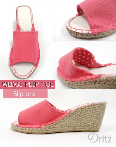 Dritz Espadrilles: New Sewing Patterns for Peep Toe Flats & Wedges