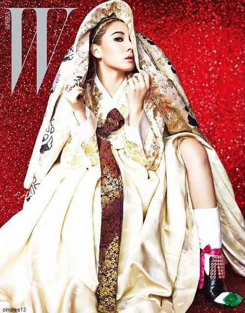 "chaelincl   Dressed up in Korean traditional dress ""Han-bok"" for @wkorea ##한복"