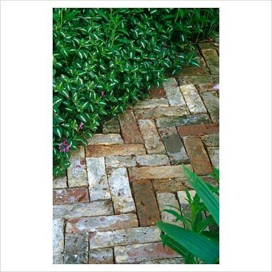 This is the brick path I would love in the side yard.....