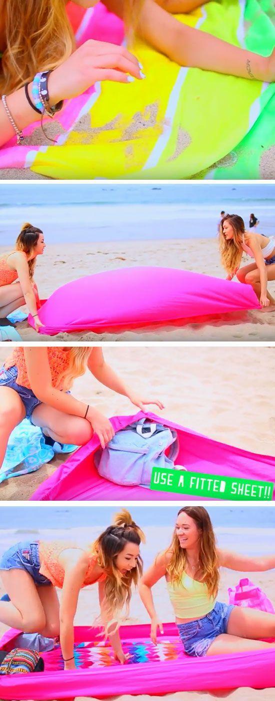 Pour ne plus avoir de sable sur les serviette de plage