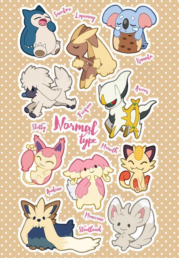 Normal Type Pokemon By Miaow Pokemon Cute Pokemon Wallpaper