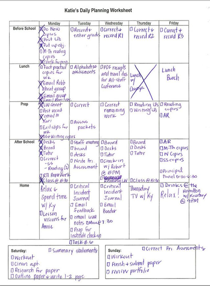[Free sample download & blank template] This sample schedule will help even the busiest teacher get organized, and who wouldn't want that?