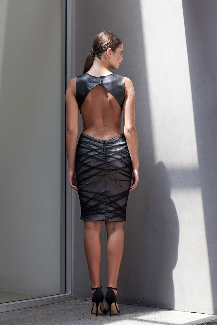 Boasting a luxurious leather upper half and ruching bottom, the Future Ruched Mesh Dress with Leather Top encapsulates the Lexi Clothing essence. With on-trend cut out detailing that shows the right amount of skin, this dress will see you through events of all kinds with its chic and effortless look.