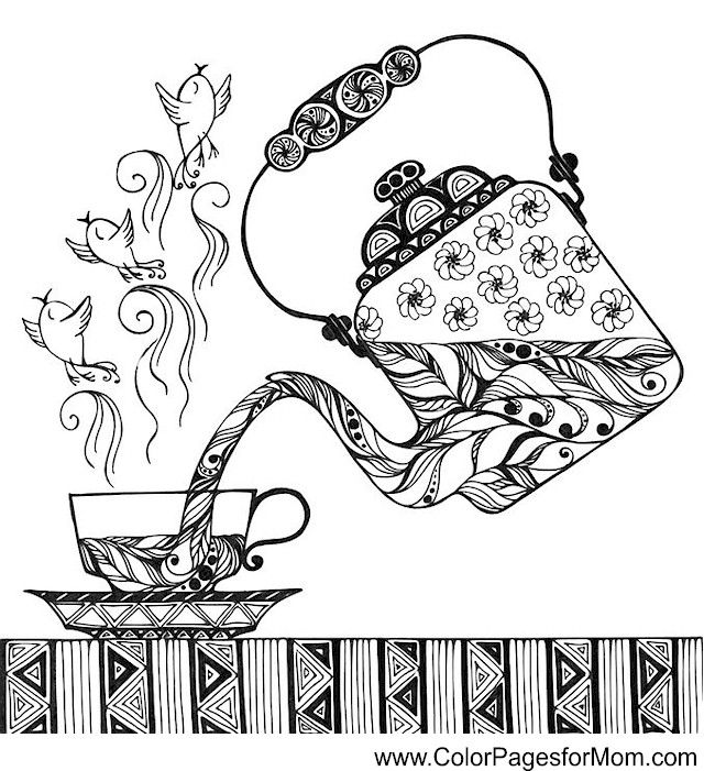 coffee coloring page 33