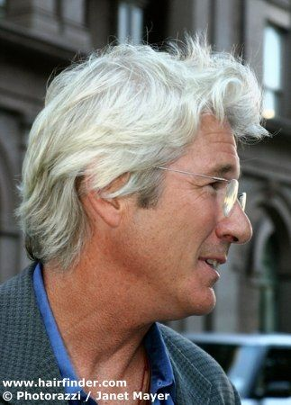 Richard Gere with long gray hair  I'll have some of what he's having.......