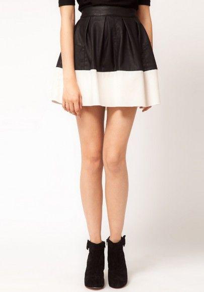 Monochrome full leather skirt! Mad love!