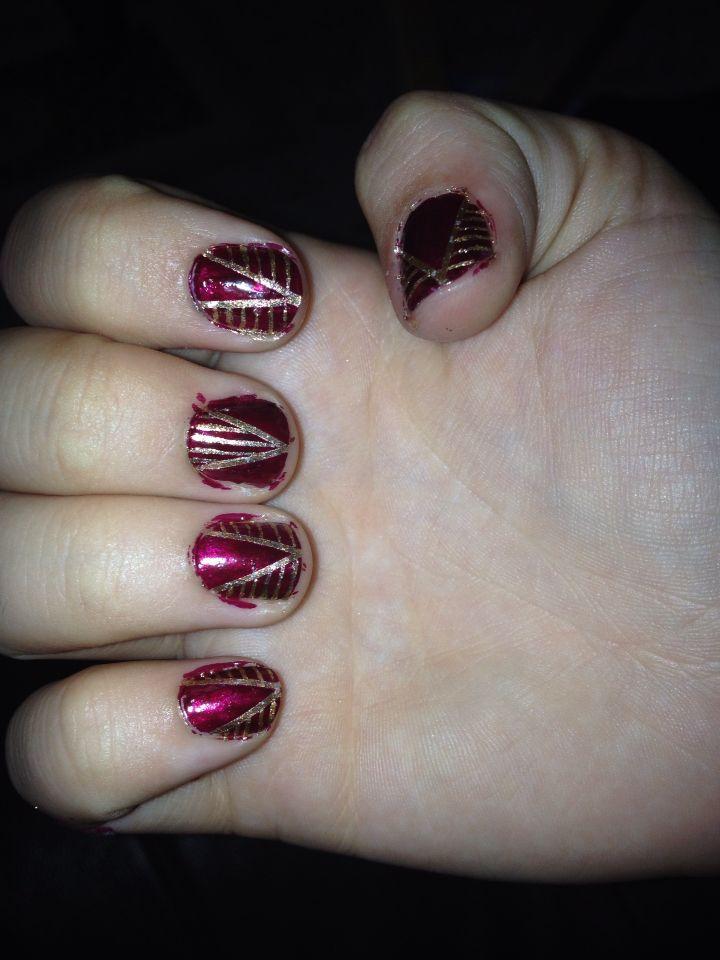 Didn't clean the edges, Tori's nails!