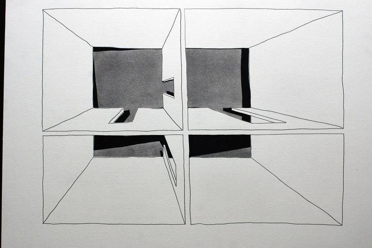 Untitled 009 by Zbigniew Taszycki, drawing – graphite, scalpel, photo: promo materials
