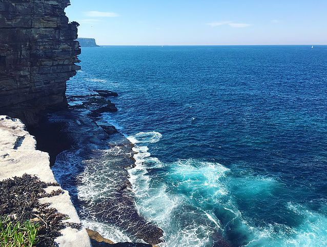 We love Sydney! Most beautiful beaches and cliffs - this is Watsons Bay. If you live Sydney too visit our website (link in bio) to win a set of free postcards