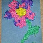 Easy Tissue Paper Flower Craft For Kids