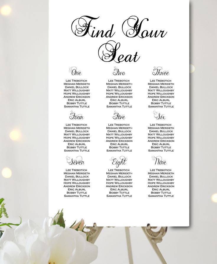 46 Best Wedding Seating Charts Images On Pinterest | Wedding