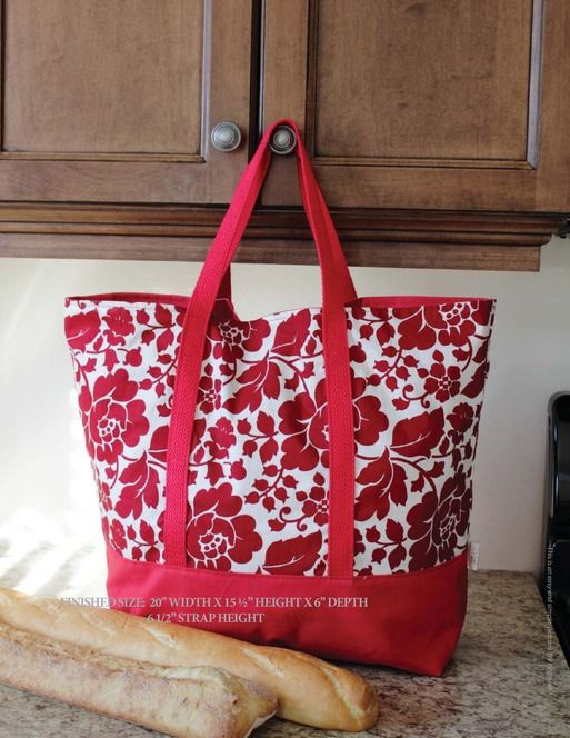 The Martha Market Bag Pattern | PatternPile.com – Hundreds of Patterns for Making Handbags, Totes, Purses, Backpacks, Clutches, and more.