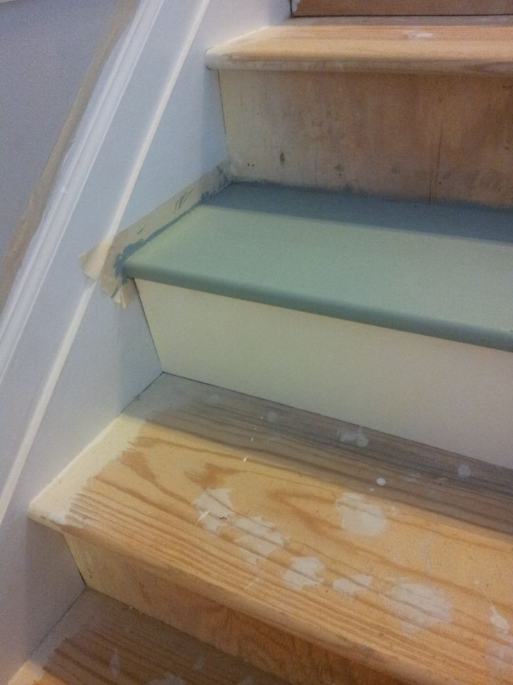 Painted stairs for under 50 paint stairs stair treads for Painted stair treads