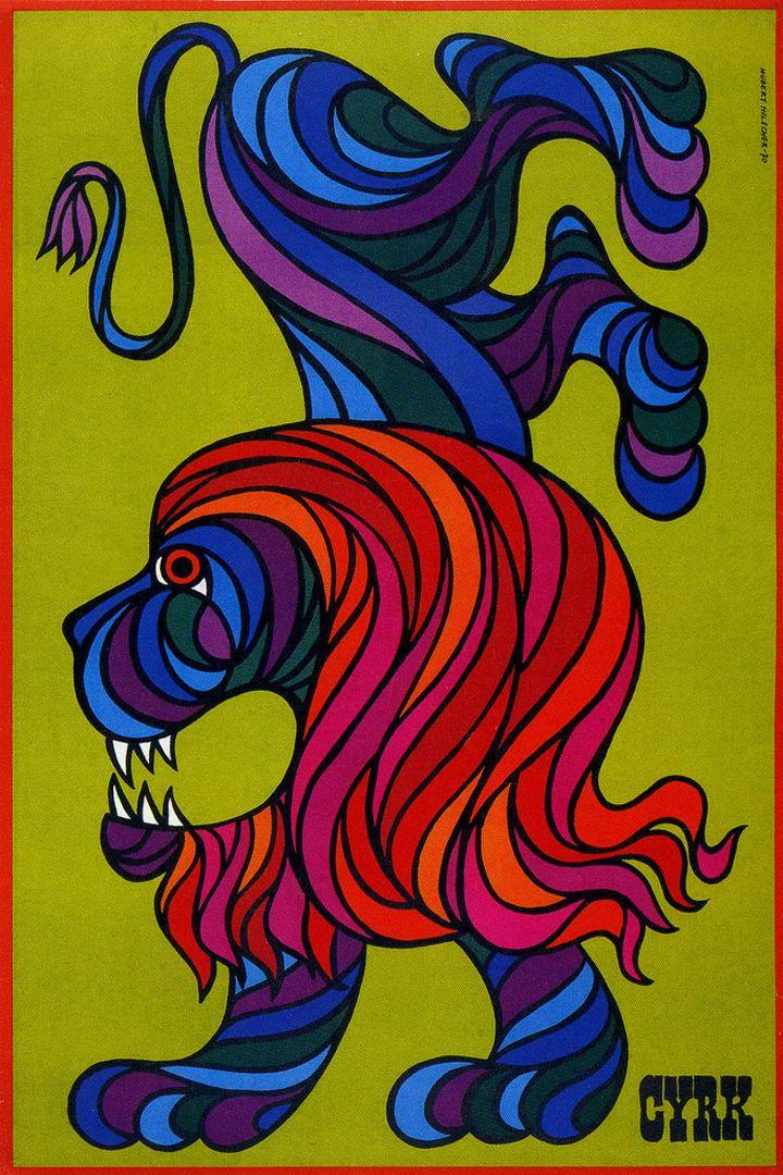 Hubert Hilscher, Cyrk poster, 1970