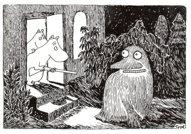 Get out of here, depression Groke! (Tove Jansson) Read More Funny: http://wdb.es/?utm_campaign=wdb.esutm_medium=pinterestutm_source=pinterst-descriptionutm_content=utm_term=
