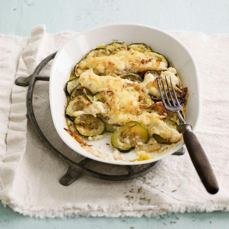 Découvrez la recette Gratin de courgettes sur cuisineactuelle.fr.