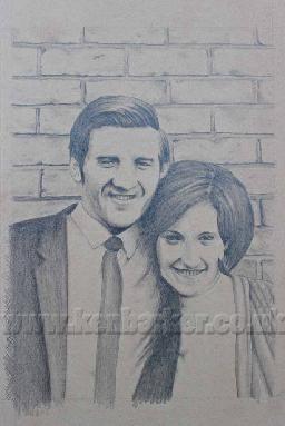 Pencil portrait commissions by Ken Barker