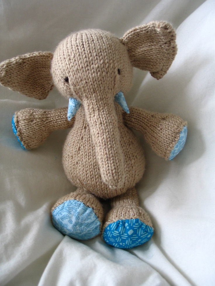 Large Elephant Knitting Pattern : ysolda elijah elephant pattern: not irrelephant! #knitting #queue #pattern #k...